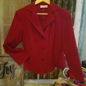 Kim Rogers Petite Red Tailored Jacket Size 8P
